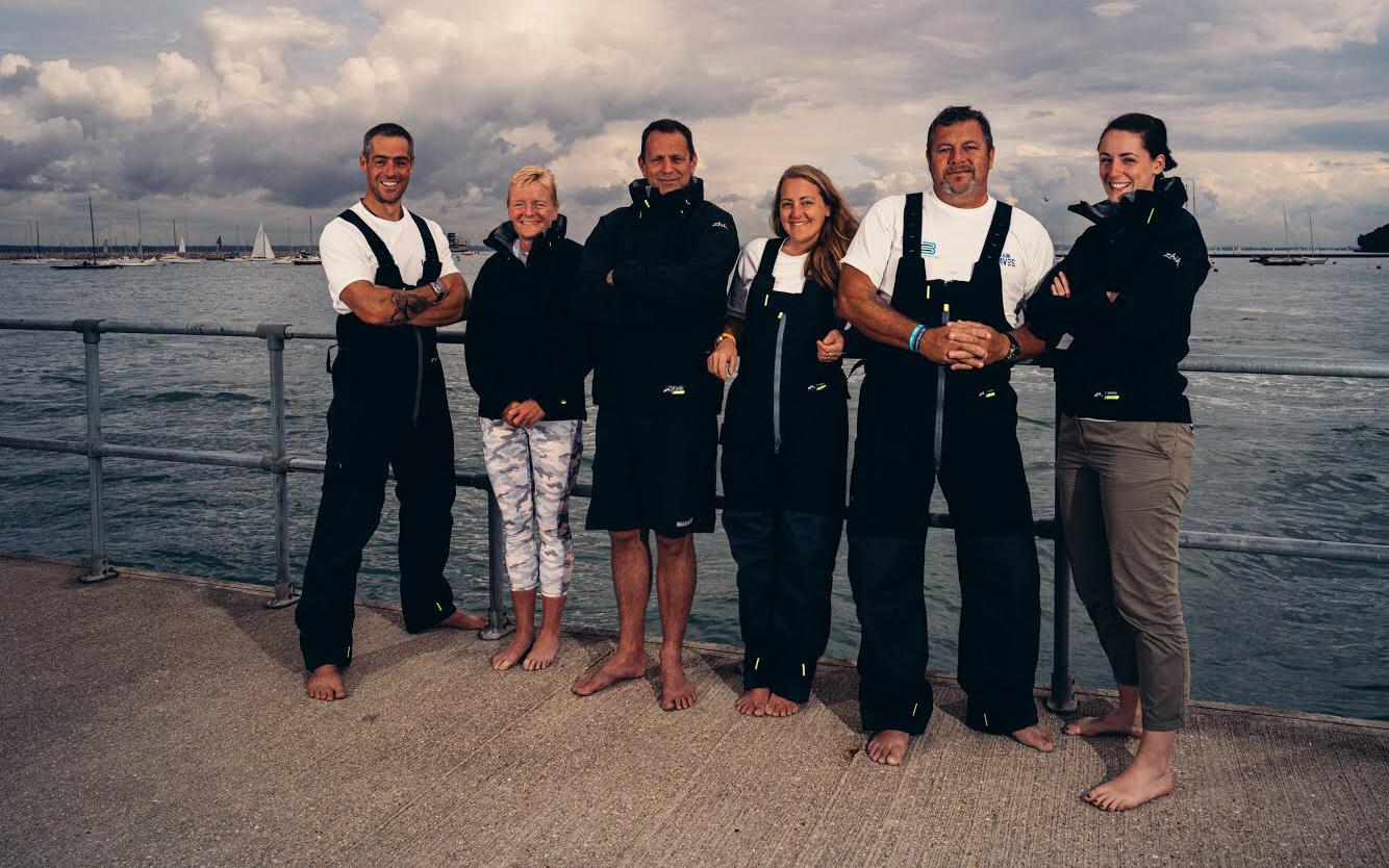 Liz Dennett and her ocean rowing crew