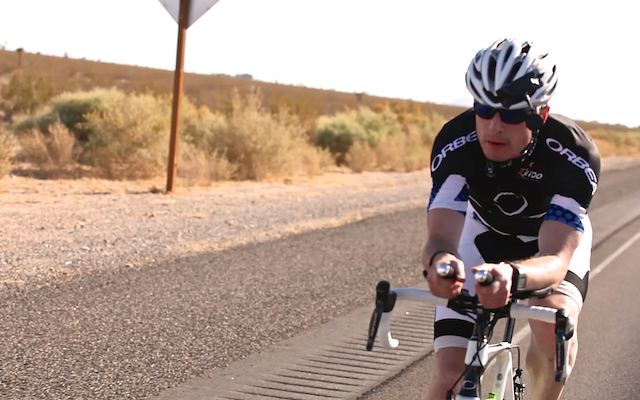 Adventurer with Parkinson's Alex Flynn riding across the Mojave desert