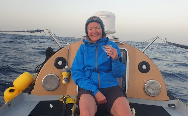 Liz Dennett rows the Atlantic Ocean