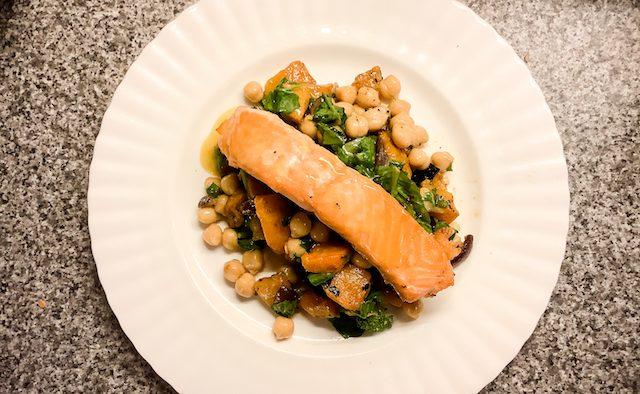 Roast squash salad Parkinson's nutrition