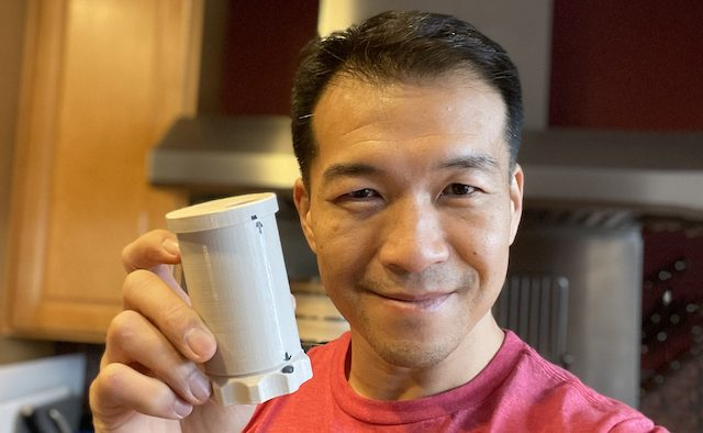 Jimmy Choi displays new pill bottle design