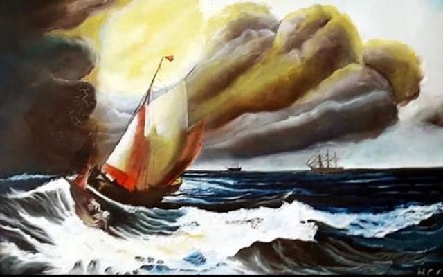 Artwork by Heriberto Gómez.