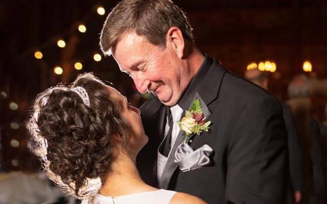 Samantha and Craig dance together at Samantha's wedding.